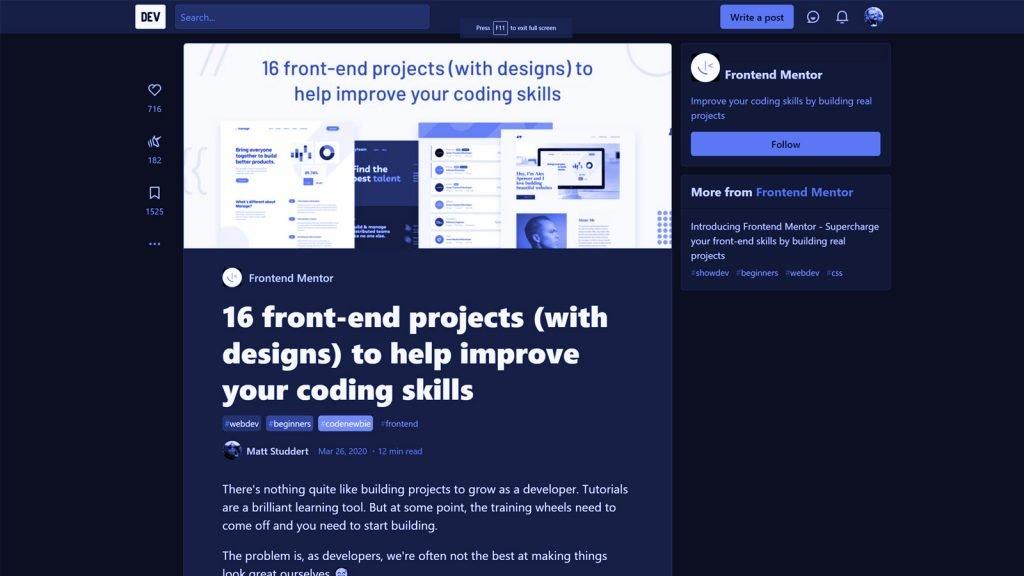 Partea practică e cea mai importantă dacă vrei să înveți HTML, CSS și JavaScript și să devii un Front End Developer bun. Așa că apucă-te să-ți construiești portofoliul!